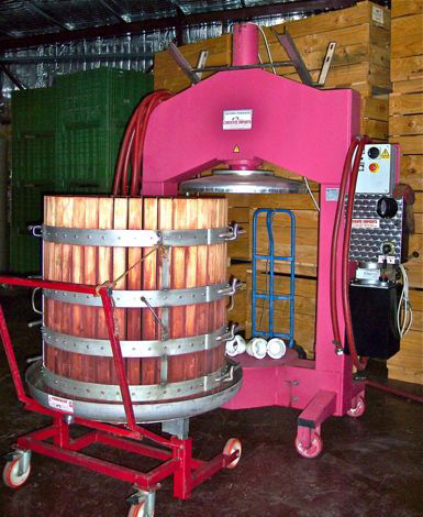 Press, to extract the last of the juice from the grapes